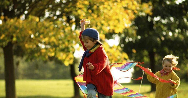 Plano de saúde para crianças: foto de crianças pequenas brincando em um parque