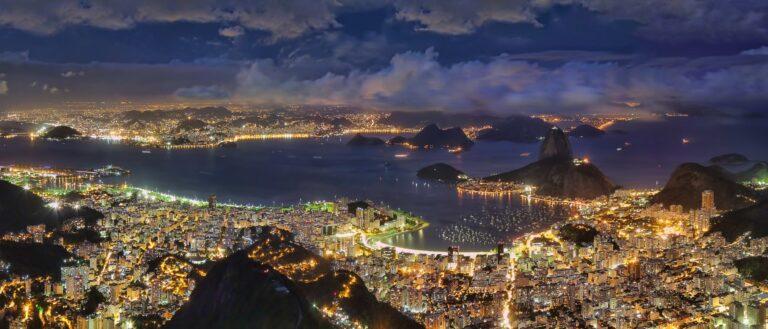 Imagem aérea da cidade do Rio de Janeiro